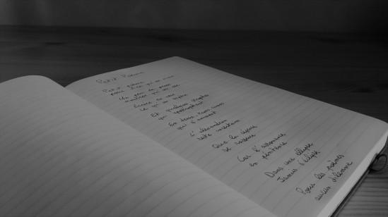 cahier poeme